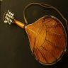Back view of Sawchyn A-5 Mandolin with nicely flamed maple.